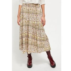 NWT Free People All About the Tiers Midi Skirt